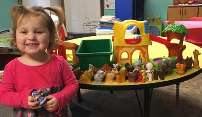 Photo of little girl in our Methuen Massachusetts toddler program.